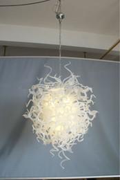 2020 rustikale deckenleuchten Günstige Rustic Kunst-Glasleuchter Moderne geblasenem Glas Kristall-LED Pretty White Wohnzimmer Deckenleuchte rabatt rustikale deckenleuchten