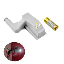 Argentina 300pcs 0.25W LED sensor de luz cocina dormitorio sala de estar gabinete armarios inducción armario armario interior bisagra lámpara de luz con batería Suministro