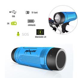 Wholesale Bike Brackets For Lights - 2017 New Portable Zealot S1 Bluetooth Speakers 4000mah Power Bank Rechargeable + LED light for Outdoor Sport+Bike Mountian Brackets