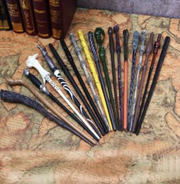 Wholesale Harry Potter Magic Wand Non Luminance Hermione Ron Voldemort Narcissa Canes Peripheral Props Wand Cosplay Magic Wand design KKA2031
