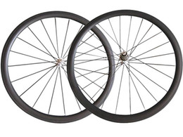 Wholesale U Wheels - 700C U Shape SAT No outer holes 25mm Width 38mm clincher carbon wheels road bike wheelset Tubeless ready compatible