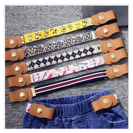 Wholesale Fabric Belt Buckle - Baby Belt For Kid Boutique Fabric 4th Of July Mix Style Pants Suspenders For School Baby Girl Boys