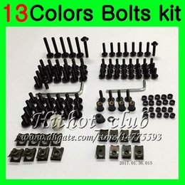 Wholesale Fairings For Yamaha - Fairing bolts full screw kit For YAMAHA YZFR6 98 99 00 01 02 YZF-R6 YZF R6 1998 1999 2000 2001 2002 Body Nuts screws nut bolt kit 13Colors