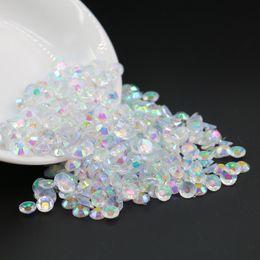 Wholesale Transparent Stones - nail arts resin 3mm, 4mm, 5mm, 6mm, Transparent crystal clear AB Resin Flatback Rhinestone , plastic flat back stone wholesale