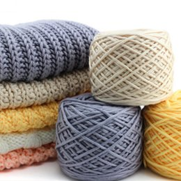 Wholesale Wholesale Scarf Yarn Knitted - 10 Pcs   Lot Cotton Silk milk cotton hand knitting yarn laine a tricoter vente en gros milk cotton thick yarn for knitting scarf