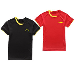 Wholesale Summer Sportswear Women - New tennis badminton   clothing   man   woman short sleeved shirts summer casual sportswear and fast dry air, free shipping