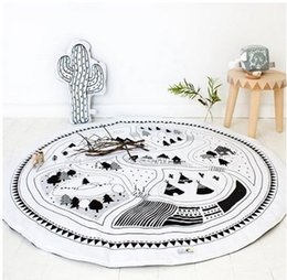 Wholesale Girls Rugs - .Baby Blanket Kids Play Mat Cobertor Girl Boys Game Mat Round Carpet Rug with Best Quality and Price WD061