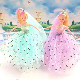 Wholesale Wholesale Baby Dolls Small - 30CM BJD BEAUTIFUL BARBIE DOLLS FOR GIRL CHILD KEYRING TOY PRINT FLOWER CLOTH