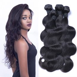 Wholesale Peruvian Virgin Hair 32 Inch - Brazilian Hair Weave Body Wave UNPROCESSED Remy Hair Wefts Cheap Wholesale Virgin Brazilian Indian Malaysian Peruvian Human Hair Extensions