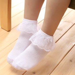 Wholesale Girl Socks Ribbons - New Girl Cotton Socks Baby ribbon Bow Sock Kids Anti Slip Socks fit 0-4T Fine warm legs baby socks
