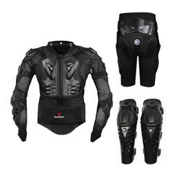 Armadura fuera de carretera online-Motocicleta Equitación Armadura de protección Motocross Off-Road Enduro Racing Protector de cuerpo completo Chaqueta + Hip Pad Shorts + Almohadillas de rodilla
