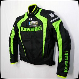 Wholesale Bike Motors - Wholesale-New 2017 style kawasaki New Arrival motor bike jacket racing jacket autorcycle jacket Motor jacke Hot sales black green color