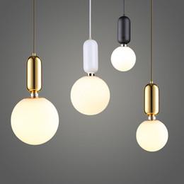 Wholesale Fluorescent Kitchen Ceiling Light Fixtures - Nordic Style Glass Ball Pendant Light Single-head Glass Chandelier Ball Ceiling Lamp Fixture Diameter 15cm 20cm 25cm