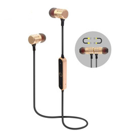 Wholesale High Definition Headset - Newest Fashion BT-21 high-definition sound quality metal magnetic adsorption wireless Bluetooth sports stereo music earphones