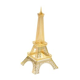 Wholesale Eiffel Tower 3d Puzzle Wood - Eiffel Tower Building Puzzle For Boy 3D Metal DIY Assembly Kids Toys Creative Educational Toys Jigsaw Puzzles For Children