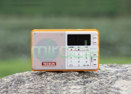 Wholesale Radios Internet - Wholesale-Free Shipping TECSUN Q3 FM Stereo Pocket Size Recorder MP3 Player Radio FM 76-108
