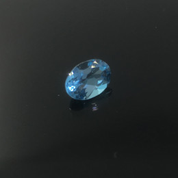Wholesale Gem Heating - Promotion topa quality light blue natural topaz loose gem stone for ring earring or pendant 5 mm*7 mm weight is 0.6 ct fearless topaz stone