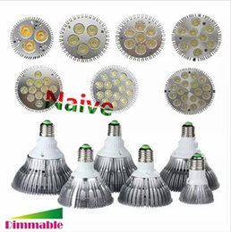 Wholesale Downlight 36w - FREE SHIPPING Dimmable Led bulb par38 par30 par20 85-240V 9W 10W 14W 18W 24W 30W 36W E27 E26 LED Lighting Spot Lamp light downlight