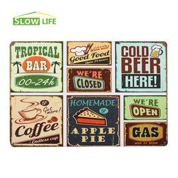 "Wholesale Colorful Metal Wall Art - Wholesale Colorful Food Vintage Tin Sign 8""x12"" Metal Sign Bar Pub Garage Wall Decor Tin Plate Retro Metal Art Poster 20170408#"