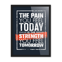 Wholesale Felt Animals Patterns - Free shipping encourage the pain you feel today is the strength you feel tomorrow words pattern home decorative hanging poster photo picture