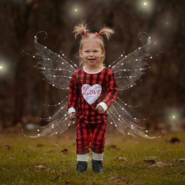 Wholesale Halloween Outfit Infant - Wholesale Baby Girl Romper Long Sleeve Plaid Infant One Pieces Rompers 2017 Spring Autumn Heart Letter Kids Girls Jumpsuit Clothes Outfits