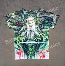 Wholesale Lord Rings Print - Wholesale- Track Ship+Vintage Retro Good Feeling T-shirt Top Tee Movie The Lord of the Rings Ring Hobbit Elf King Prince 0848