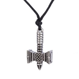 Wholesale Neckless Wholesale - Thor Hammer Of Svarog With Star Of Russia Slavic Pendant Necklace Svarog Hammer Talisman Men Jewelry Neckless