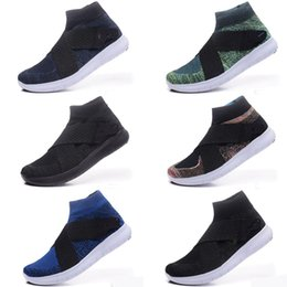 Wholesale E Solids - Newest High Quality Women Men Air FLYNIT 5.0 RACER Running Shoes High Ankle Barefoot Free shopping Run Sports Sneakers Trainers Size 40-45