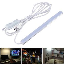 Wholesale Down Light Led Tube - 2017 SMD2835 5V LED Strip USB LED Desk Table Lamp Light for Bedside Book Reading Study Office Work Children Night Light led tubes