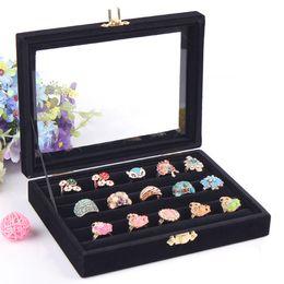 Caixas de vitrine para jóias on-line-Moda Caixa De Anel Caixa De Armazenamento De Jóias Brinco Caso Colar de Exibição de Jóias Acessório Caso Anéis Organizador de Jóias Decoração Showcase