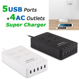 Wholesale Surge Protectors Strip - DiGiYes 2500W 4-Outlet 5 Port USB Charging Hub Home and Office Power Strip Surge Protector with 5 Feet Cord for Phones Tablets CHA_041