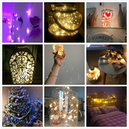 Wholesale Decoration Lights For Parties - 10M 100 LED 3AA Battery Operated Copper Wire Colorful Tiny String Fairy Light for Christmas Holiday Wedding Party Decoration