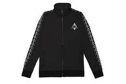 Wholesale High Collar Zipper Jacket - Gosha Rubchinskiy pablo 2017 burlon JACKET Women Men 1:1 High Quality Gosha Flag 100% Cotton T shirt Yeezus Gosha Rubchinskiy T shirts 888