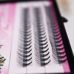 Wholesale Eyelash Extensions C 12mm - 1 boxes Volume Eyelash Extensions 0.1 Thickness Hair Mink Strip Eyelashes Individual Lashes Fans Lash Natural Style 6 8 10 12mm