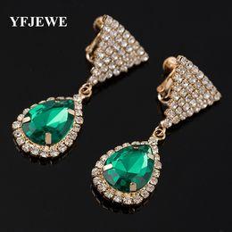 Wholesale Popular Gems - Fashion tricolor sparkling crystal earrings women's fashion accessories jewelry genuine popular decorative gems #E304