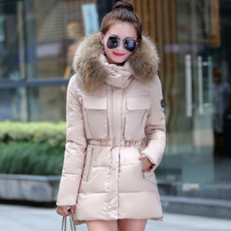 Hoodie fourrure pour femmes à vendre-Big Fur Down Coat Femmes Long Down Jacket Parkas Hoodies Femmes Vêtements d'hiver Outdoor Outwear Overcoat Warm Thickening Grande taille M-XXXL