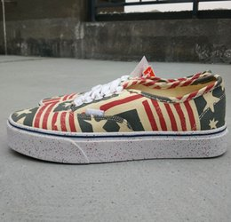 Wholesale Casual Shoes Flag - 2017 new fashion Syndicate SK8 hi old skool Defcon unisex Genuine casual shoes canvas Skateboarding Shoes Retro Flag size eur36-44 low shoes