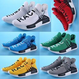 Wholesale Massage Promotion - Wholesale Sales Promotion Original Shoes NMD HUMAN RACE Pharrell Williams X NMD Runner Shoes man & women New Arrivals Sneakers shoes