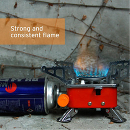 Stufe backpacking online-2017 Outdoor 4000BTU automatico piezoelettrico One Burner stufe a gas Quattro Square Picnic Camping Backpacking Cook Stove