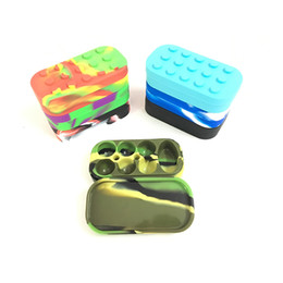 Wholesale Container Cube - 100*50*26mm Durable Silicone Cosmetic Containers With Sealed Lids Concentrate Silicone Cure Cubes Jar Container 1 Piece