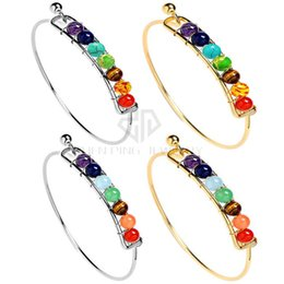 Wholesale 6mm Stainless Steel Balls - Chakra Bracelet 6mm Round Ball Mix 7 Color Beads Bracelet Stainless Steel Shamballa Bracelet Chakra Bracelets Free Shipping