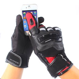 Wholesale Scoyco Gloves Waterproof - Wholesale- SCOYCO Motorcycle Gloves Winter Warm Waterproof Windproof Protective Racing Accessories Guantes Moto Luvas Touch Screen Gloves