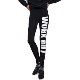 Sport Fans Sex Color Work Out Imprimer Pantalon Lettre Capris Élastique Gym Leggings Taille Libre Slim Fit Pantalon PWDK21-03 WR ? partir de fabricateur
