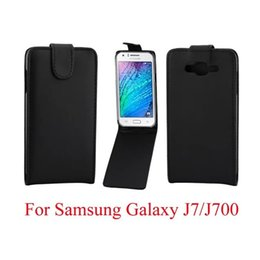 2019 j7 bolsas Sacos de telefone flip capa para samsung galaxy j7 j700f phone case voltar coque couro pu flip vertical up-down bolsa de pele aberta tampa do telefone desconto j7 bolsas
