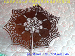 Wholesale Children Lace Parasols - THINKTHENDO 30cm Lace Parasol Umbrella Embroider For Bridal Wedding Decorate HXP001Style Lace Parasol Chic Handmade lace parasol hand um
