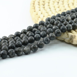 Wholesale Labradorite Rounds - Natural Black Labradorite Beads Round Loose Gemstone Beads for Jewelry Making 4 6 8 10mm Full Strand 15 inch L0100#