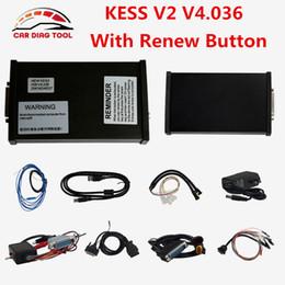 Wholesale New Kess V2 Obd2 - Wholesale- Brand New KESS V2 V4.036 OBD2 Manager Tuning Kit KESS V2.22 Master KESS 2 Unlimited Tokens With Reset Button ECU Chip Programmer
