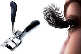 Wholesale Grip Eyelash - Wholesale-New 2015 Ladies Makeup Eyelash Curler with Black Grips