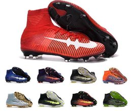 Wholesale Leather Ups Jacket - 2017 CR7 football shoes Mercurial CR7 Superfly V FG boys soccer shoes young youth soccer jacket new Cristiano Ronaldo shoes 38-45