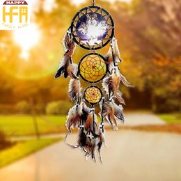 Wholesale Art Styles Hands - Wall Art Decor Wall Hangings Dream Catcher Net Indian Style Totem Paintings Ornaments Creative Hand Knitted Gifts Home Car Decorators